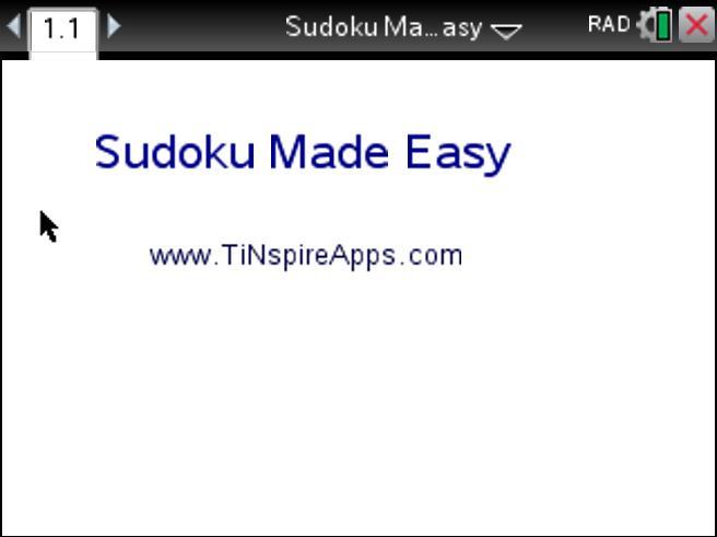 TI-Nspire: Play Sudoku - Tinspire CX - Step by Step